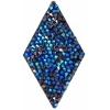 Swarovski Crystal Rock Diamond 25x31.7mm Bermuda Blue Crystal